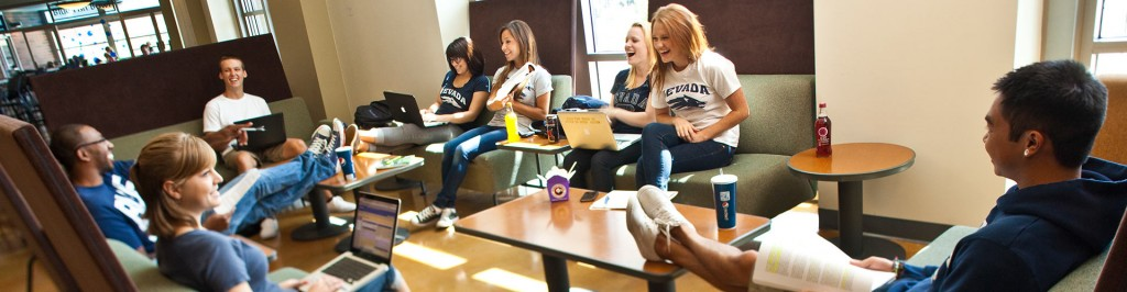 college students socializing